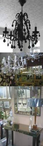 Interiors, lighting, chandeliers, Monty's of Crews Hill, North London, EN2 9DS